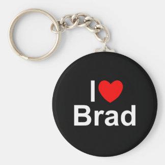 Amo (corazón) a Brad Llavero Redondo Tipo Pin