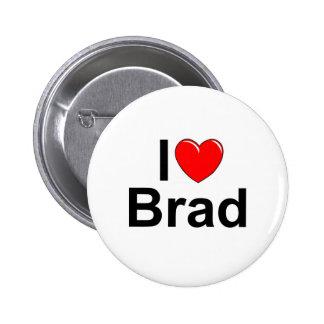 Amo (corazón) a Brad Pin Redondo De 2 Pulgadas