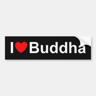 Amo (corazón) a Buda Etiqueta De Parachoque