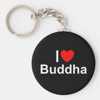 Amo (corazón) a Buda Llavero Personalizado