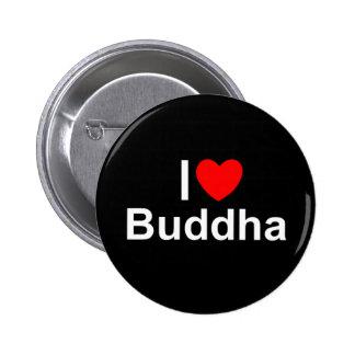 Amo (corazón) a Buda Pin Redondo De 2 Pulgadas