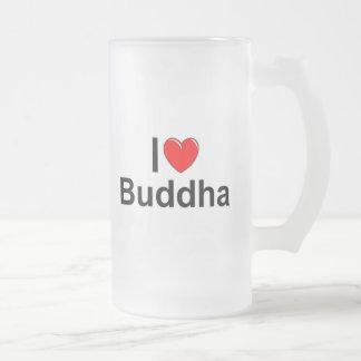 Amo (corazón) a Buda Taza De Cristal