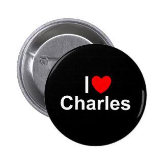 Amo (corazón) a Charles Pin Redondo 5 Cm
