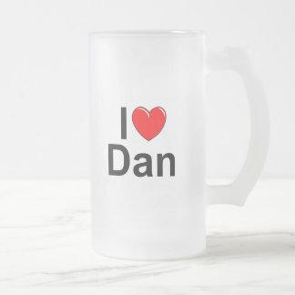 Amo (corazón) a Dan Jarra De Cerveza Esmerilada