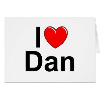 Amo (corazón) a Dan Tarjeta De Felicitación