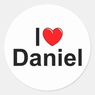 Amo corazón a Daniel Etiqueta Redonda