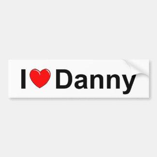 Amo (corazón) a Danny Pegatina Para Auto