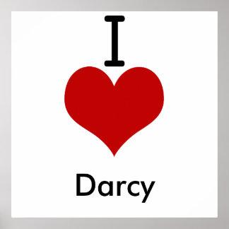 Amo corazón a Darcy Impresiones