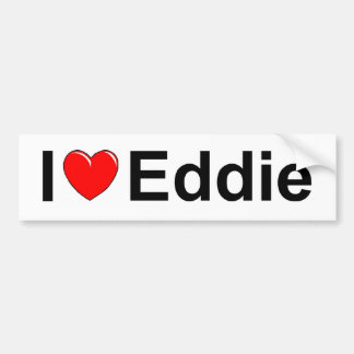 Amo (corazón) a Eddie Pegatina Para Auto