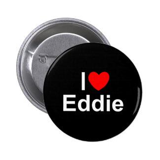 Amo (corazón) a Eddie Pin Redondo De 2 Pulgadas