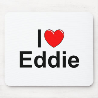 Amo (corazón) a Eddie Tapetes De Ratón