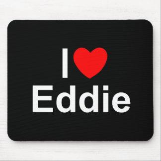 Amo (corazón) a Eddie Alfombrilla De Ratones