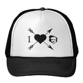 Amo (corazón) a Edgar Allan Poe Gorra
