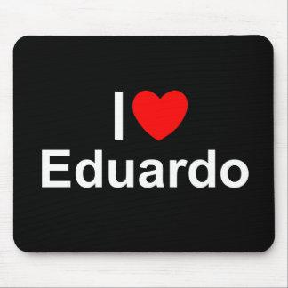 Amo (corazón) a Eduardo Tapetes De Ratón