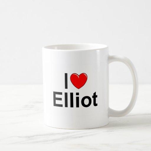 Amo (corazón) a Elliot Taza De Café
