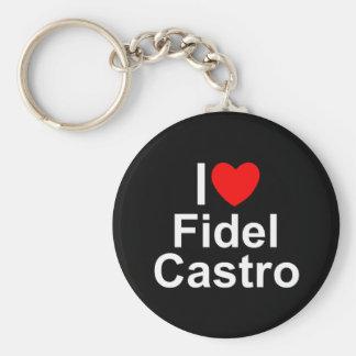 Amo corazón a Fidel Castro Llavero Personalizado