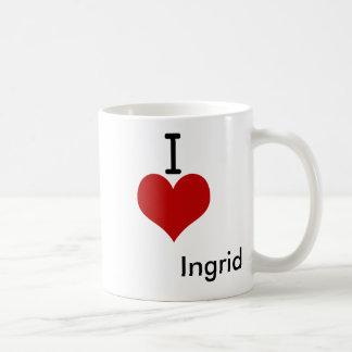 Amo (corazón) a Ingrid Tazas De Café
