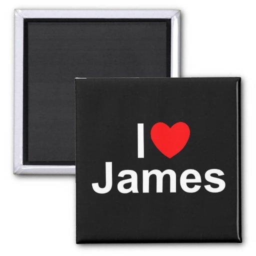Amo (corazón) a James Imán Cuadrado