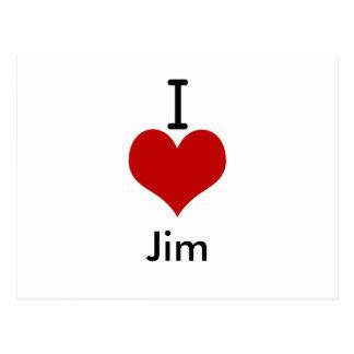 Amo (corazón) a Jim Tarjetas Postales