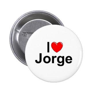 Amo (corazón) a Jorge Pin Redondo De 2 Pulgadas