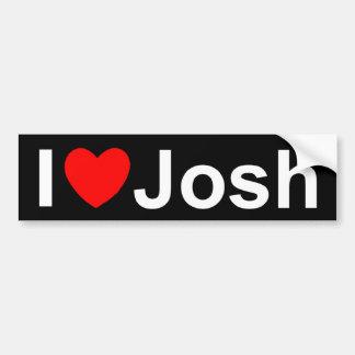 Amo (corazón) a Josh Pegatina De Parachoque