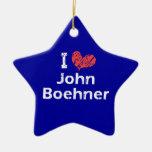 Amo (corazón) a Juan Boehner (de doble cara) Ornamentos De Reyes