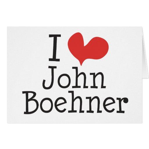 Amo (corazón) a Juan Boehner Tarjeta