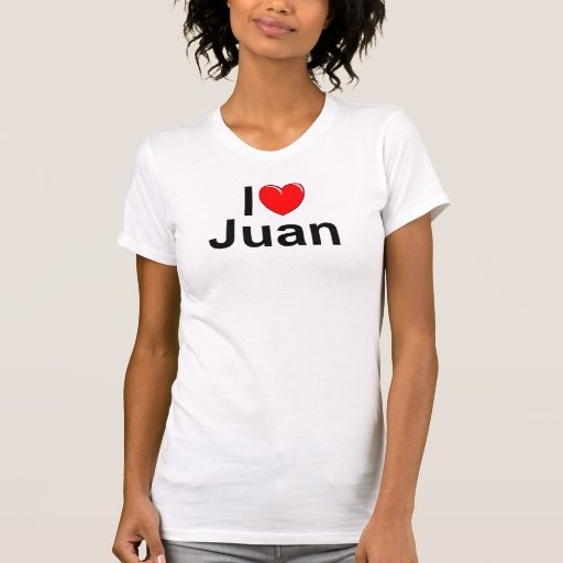 Amo (corazón) a Juan Camisetas