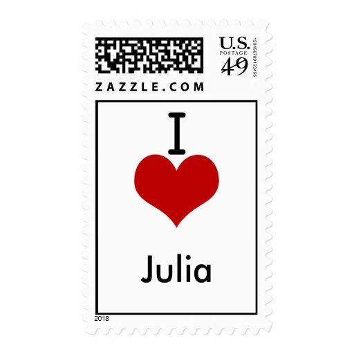 Amo (corazón) a Julia Sellos