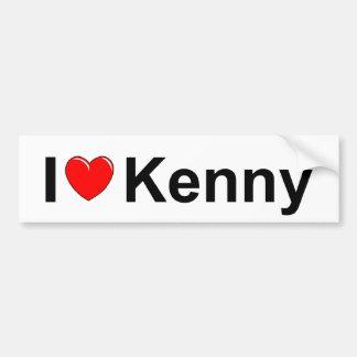 Amo corazón a Kenny Pegatina De Parachoque