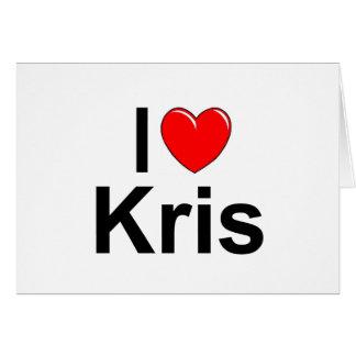 Amo (corazón) a Kris Tarjeta De Felicitación
