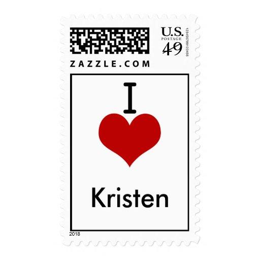 Amo (corazón) a Kristen Sello