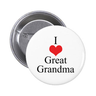 Amo (corazón) a la gran abuela pin redondo de 2 pulgadas