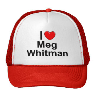 Amo (corazón) a Meg Whitman Gorros