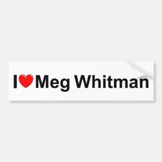 Amo (corazón) a Meg Whitman Pegatina Para Auto