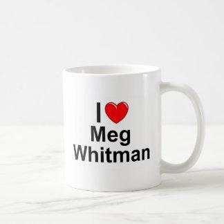 Amo (corazón) a Meg Whitman Taza Clásica