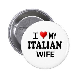 Amo (corazón) a mi esposa italiana pin