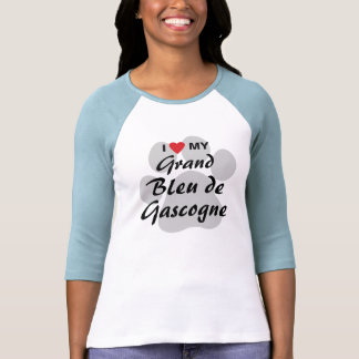 Amo corazón a mi Grand Bleu de Gascogne Camiseta