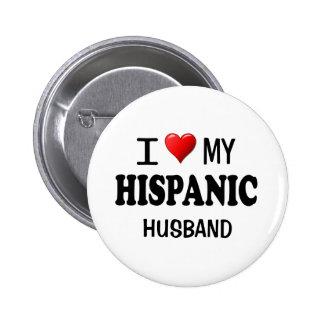 Amo (corazón) a mi marido hispánico pins