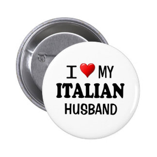Amo (corazón) a mi marido italiano pins