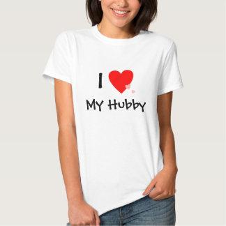 Amo (corazón) a mi marido playeras