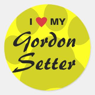Amo (corazón) a mi organismo de Gordon Pegatina Redonda