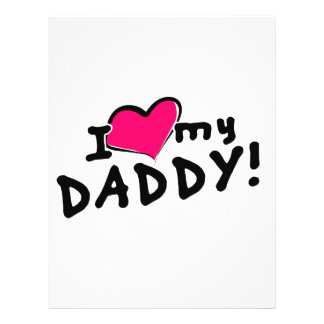 "¡Amo (corazón) a mi papá! Folleto 8.5"" X 11"""