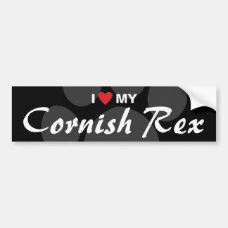 Amo (corazón) a mi Rex de Cornualles Pegatina Para Auto