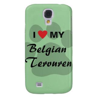 Amo (corazón) a mi Tervuren belga Funda Para Galaxy S4