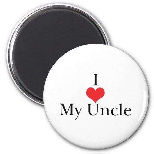 Amo (corazón) a mi tío imán redondo 5 cm