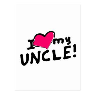 ¡Amo (corazón) a mi tío! Postales