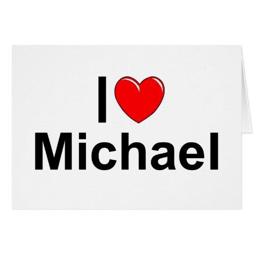 Amo (corazón) a Michael Felicitacion