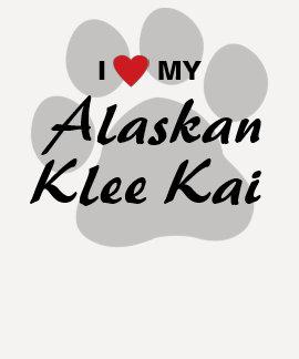 Amo (corazón) a mis amantes de Alaska de Klee Kai Camiseta