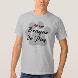 Amo (corazón) a mis amantes de Braque du Puy Dog Poleras